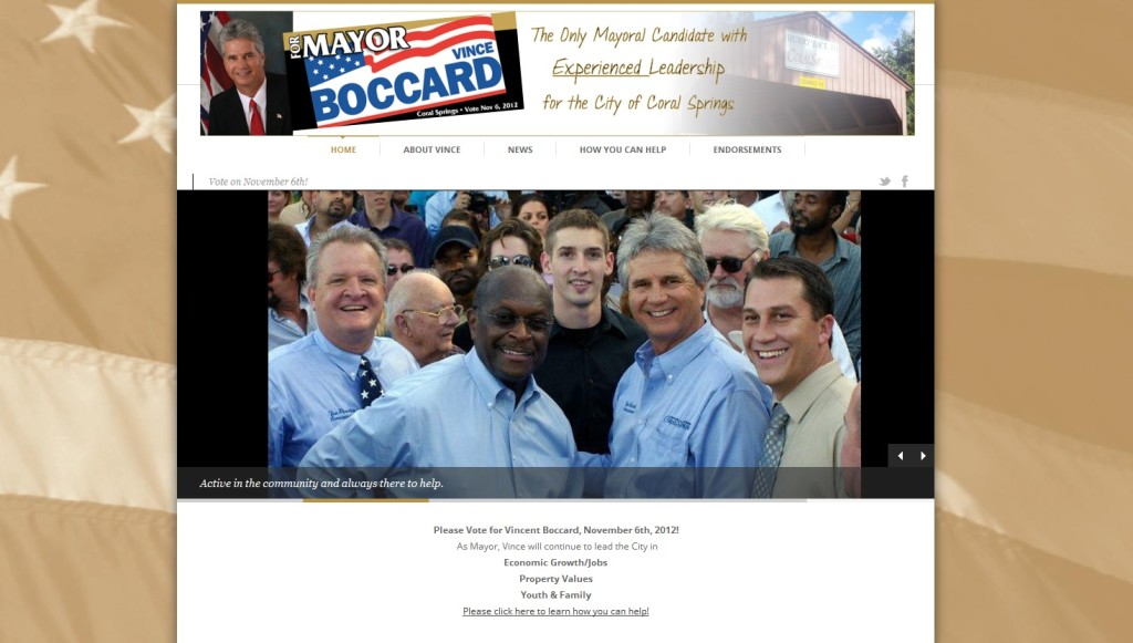 Coral Springs Auto Mall >> Mayor Vincent Boccard Campaign | Rare Pixel Design
