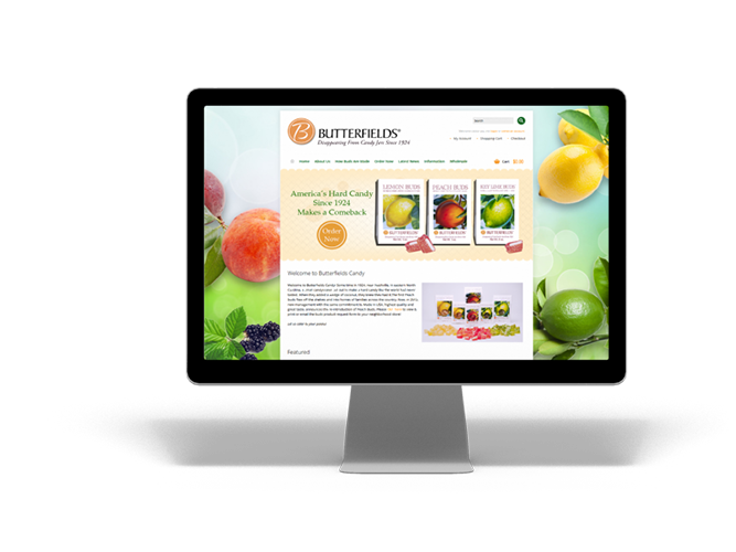 Butterfields Candies Website eCommerce